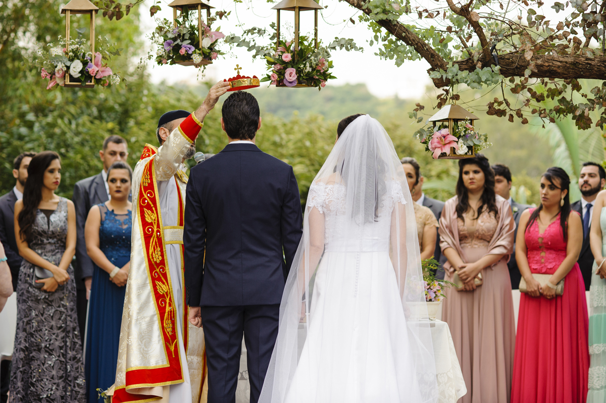 Passagem da celebração ortodoxa de casamento