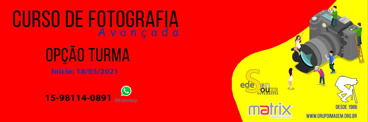 Imagem capa - Curso de Fotografia Avançada  por Grupo Imagem