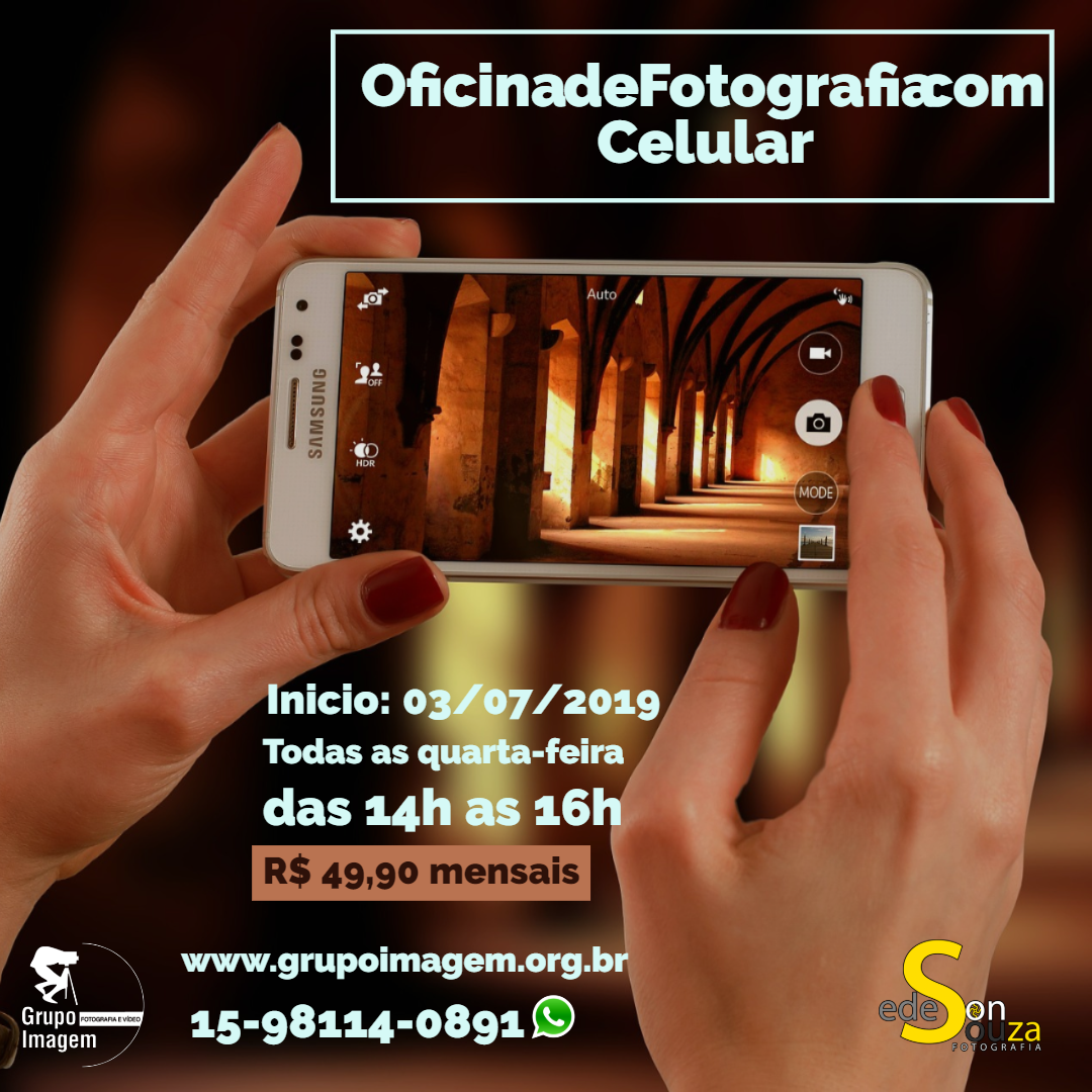 Imagem capa - Oficina de Fotografia com Celular por Grupo Imagem