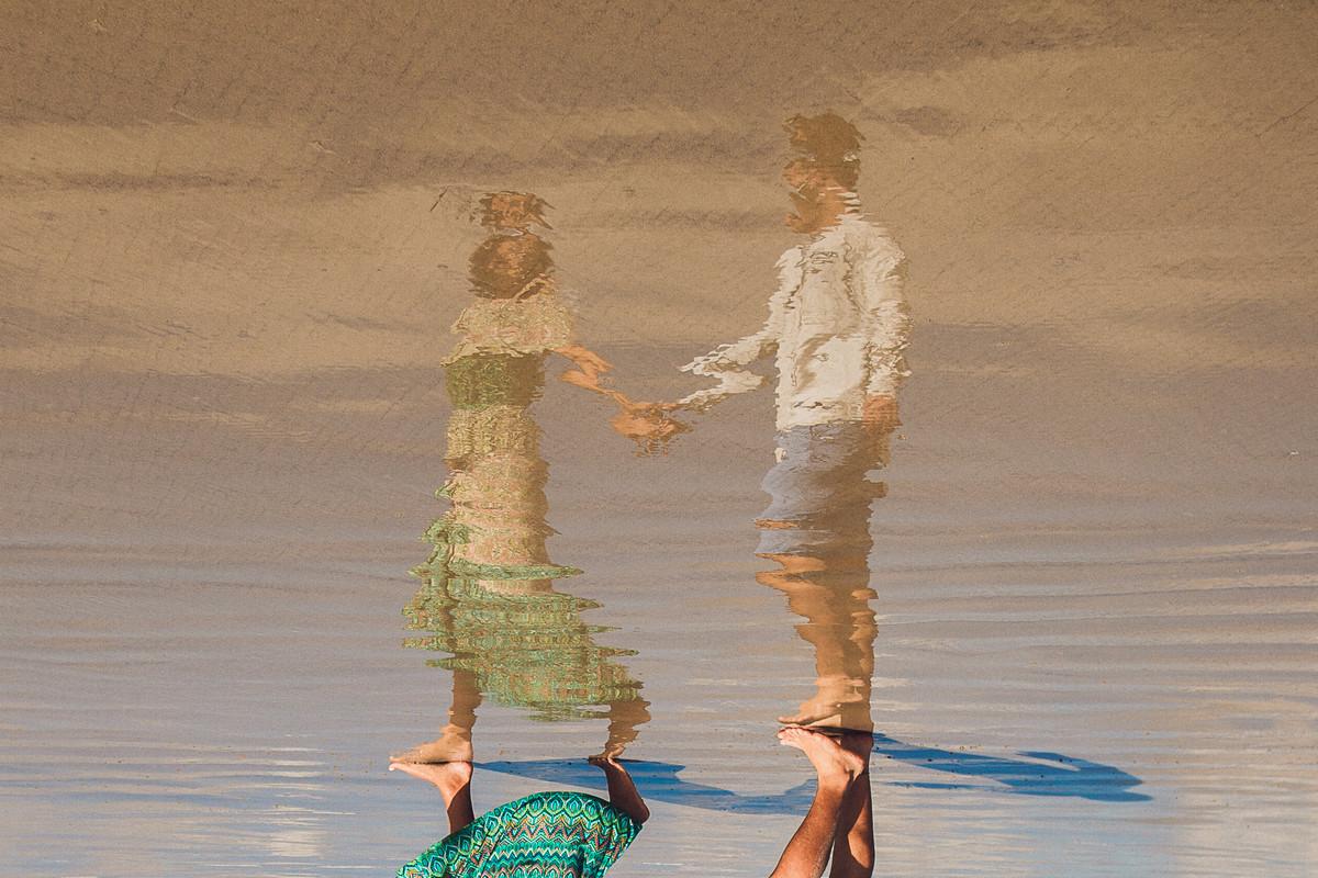 ideias de fotos de casal na praia