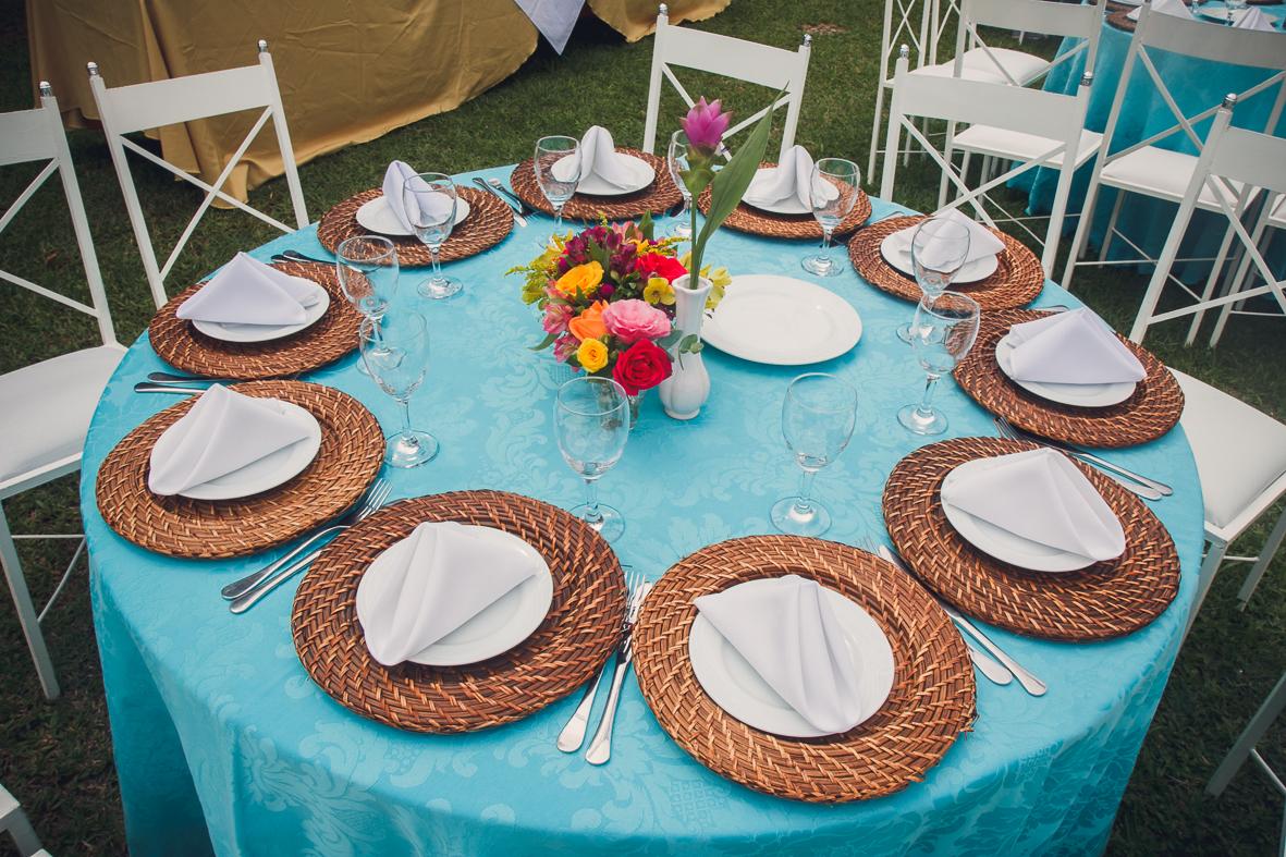 mesa decorada para o casamento