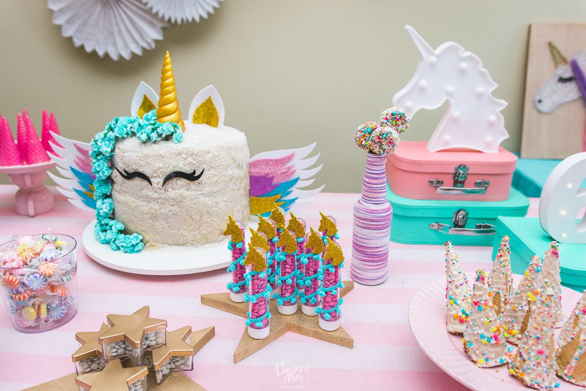Festa Infantil Nina 6 anos [Unicórnio] Jardim Bot u00e2 -> Decoração De Festa Infantil Tema Unicornio