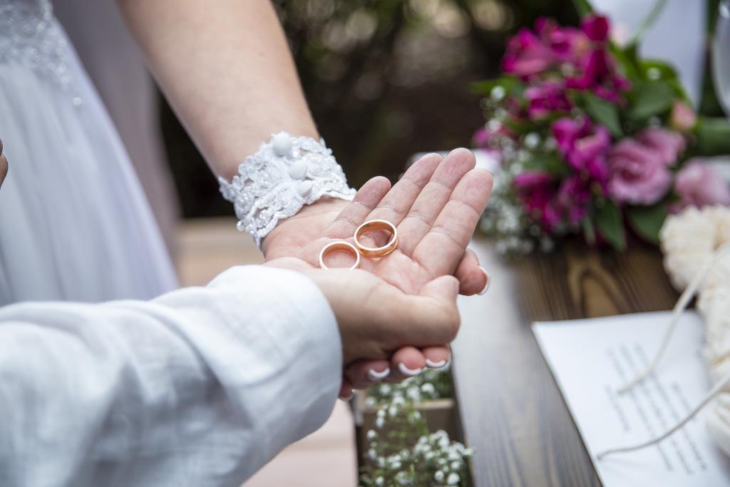 Fotos de casamento - Alianças