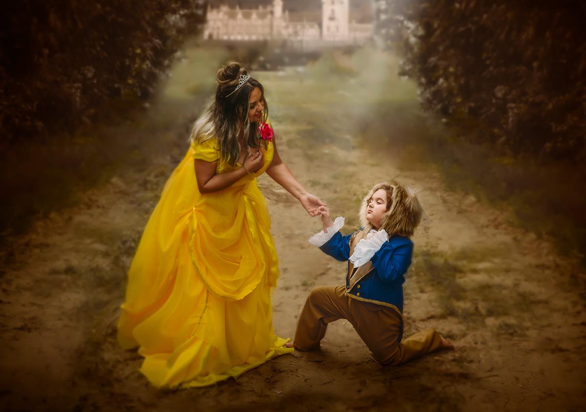 Imagem capa - A Bela e a Fera por Aline Fontes