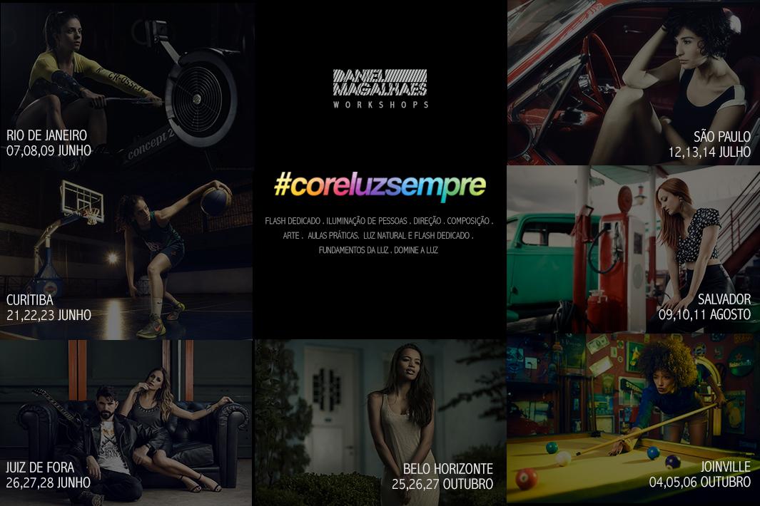 Imagem capa - Workshop #coreluzsempre: Tour Brasil por Daniel Magalhães
