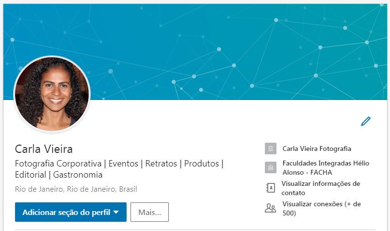 Imagem capa - Como alterar sua foto de Capa no Linkedin por Carla Vieira