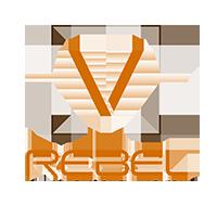 Logotipo de V REBEL CINEMA ONE