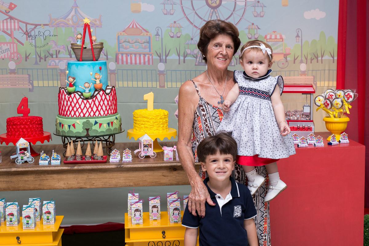 Aniversário 1 aninho Maria Alice e 4 anos Miguel - Vovó Penha