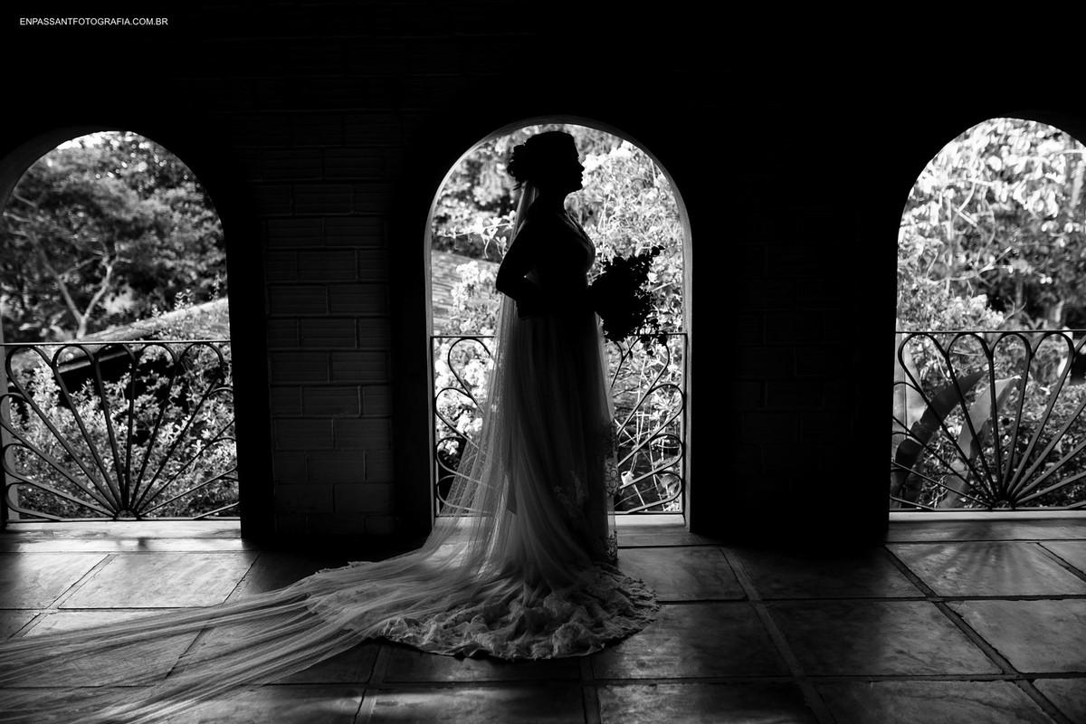 silhueta de noiva