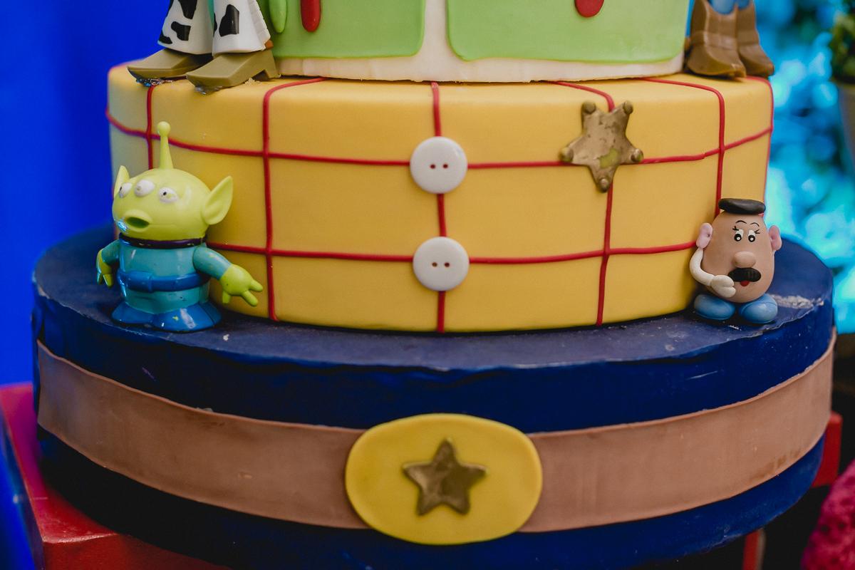 detalhe do bolo do toy story