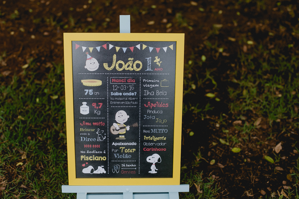 quadro usado no ensaio smash the cake do Joao