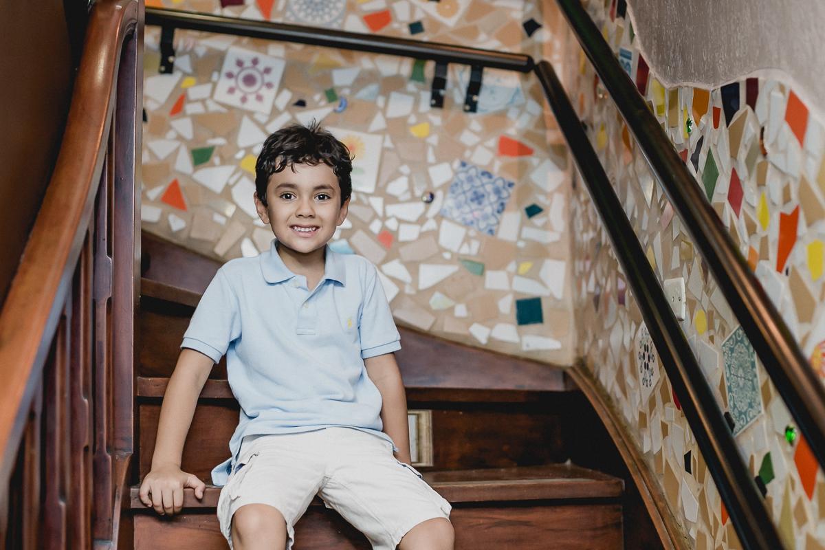 retrato na escada