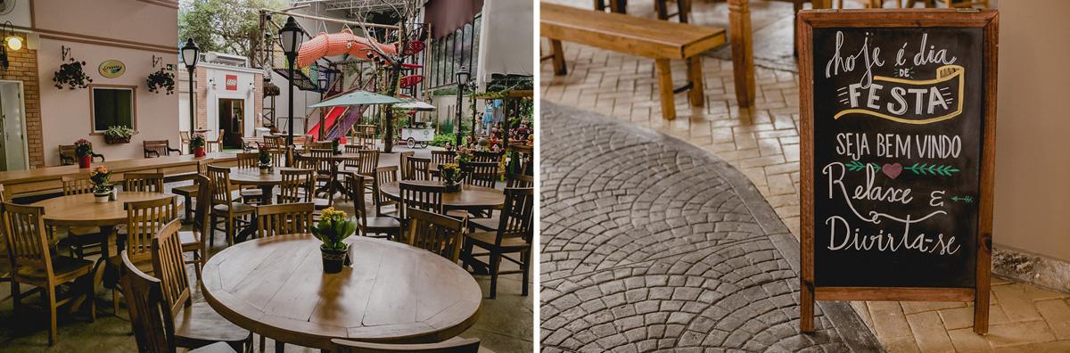 detalhes do interior do buffet praça pitangueira