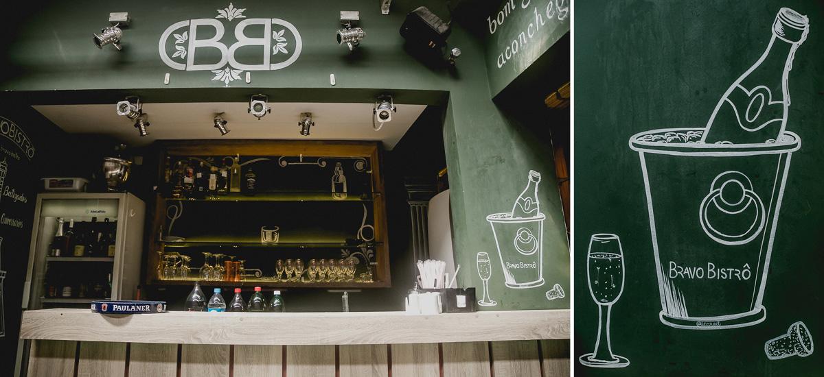 detalhes do bar do restante bravo bistro