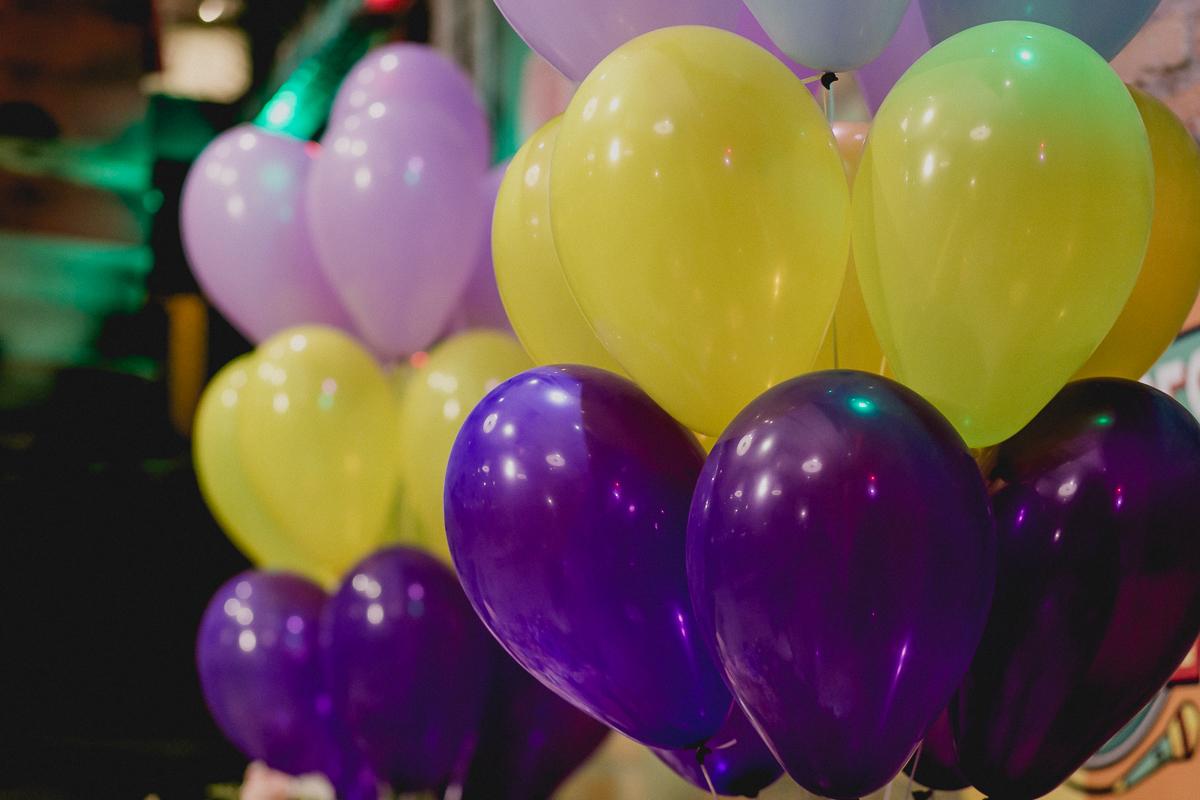 Baloes da festa de 6 anos da Manoela