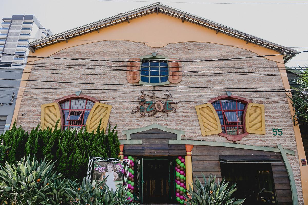 fachada do buffet espaço zoe localizado no tatuape sao paulo sp