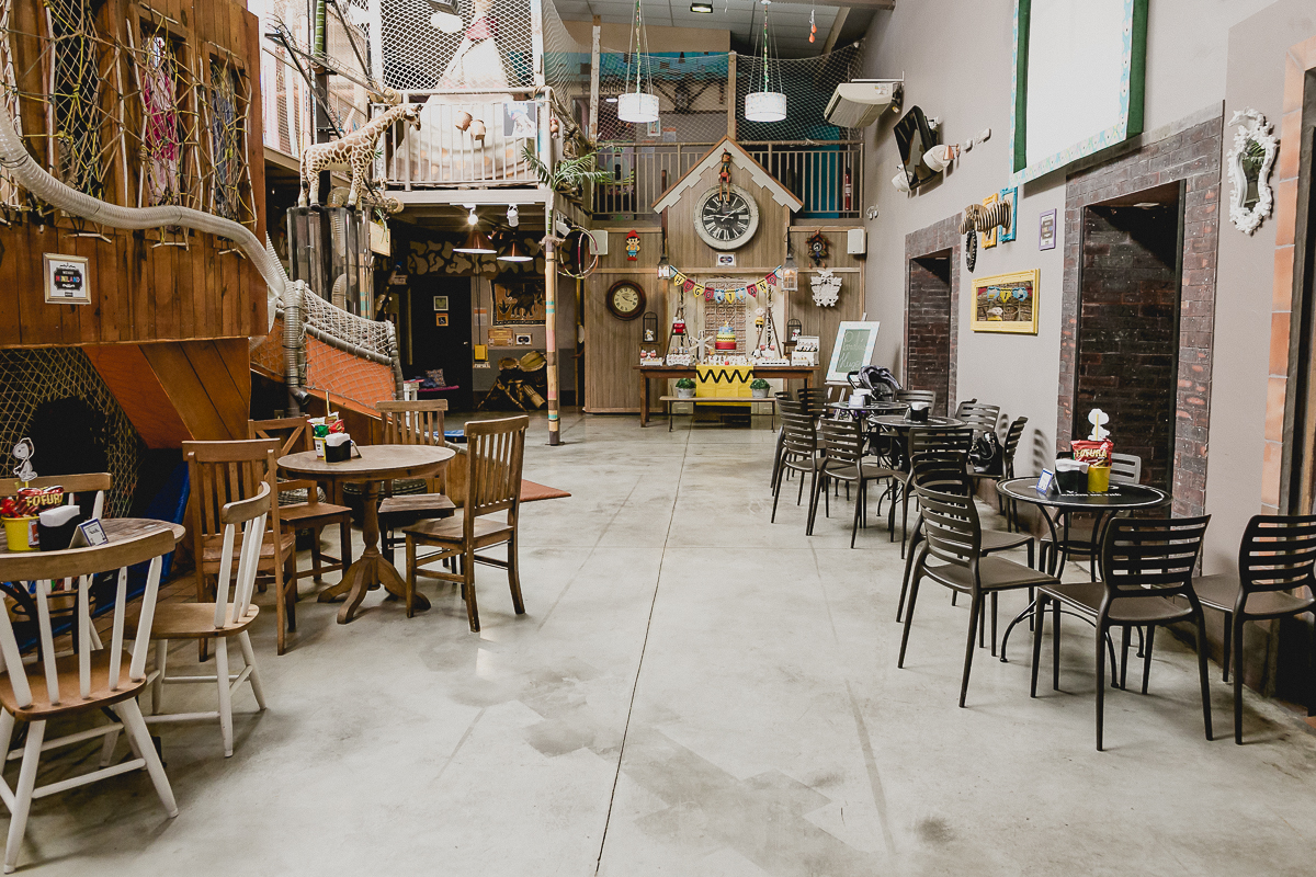 interior e atraçoes do buffet miniland tatuape