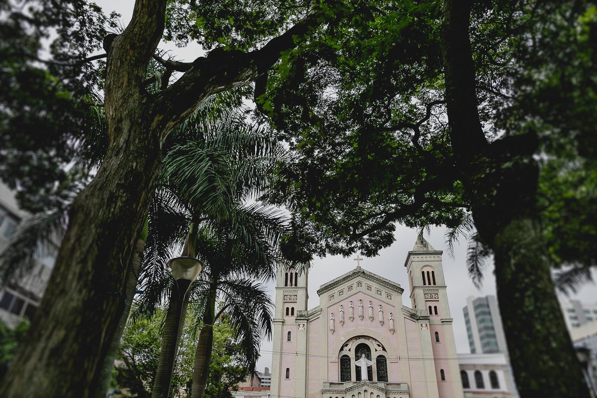 fachada da igreja matriz sagrada familia em sao caetano do sul sp