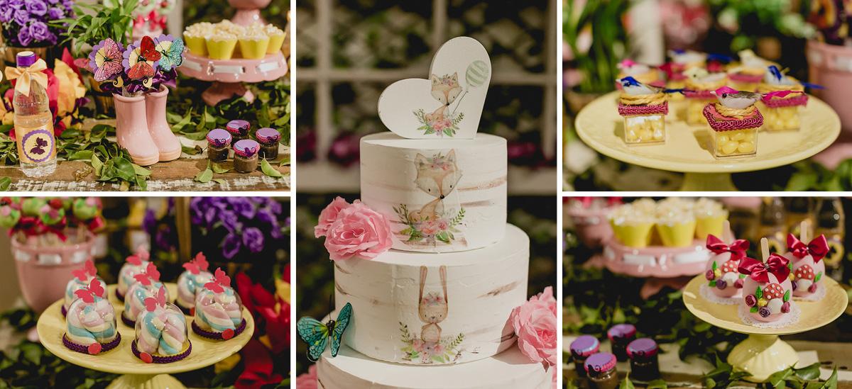 detalhes da mesa do bolo feita pela marcia colonese decoradora