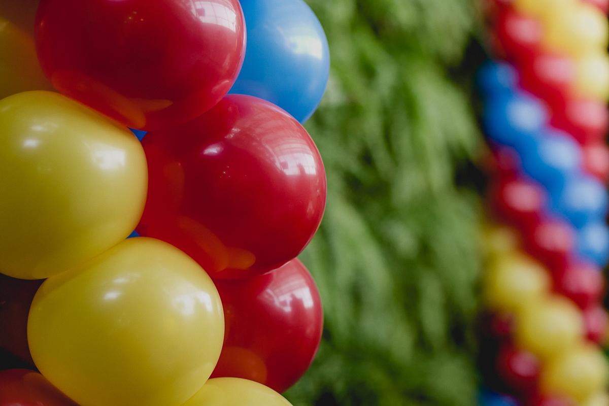 baloes para festa de 6 anos do joao e do dante