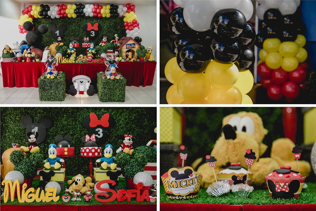 Decoração da mesa da festa no Buffet Happy Club - Moema - SP