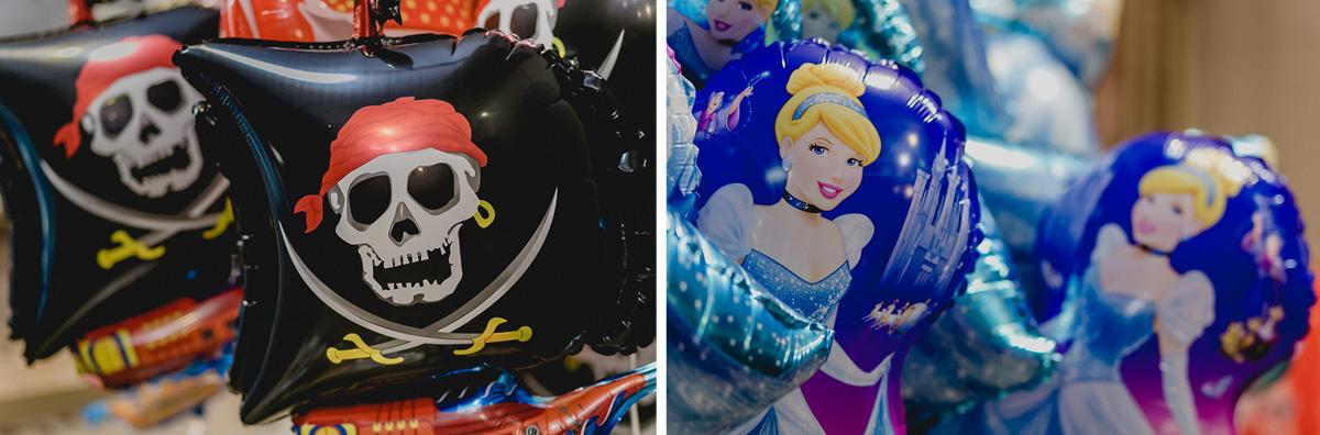 Baloes da cinderela e dos piratas