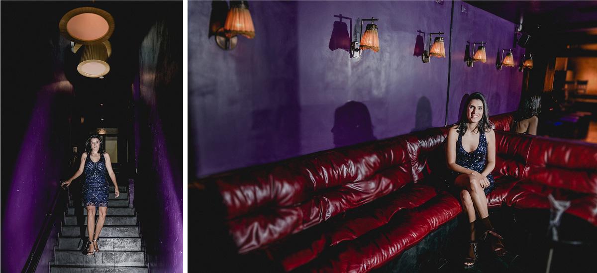Fotografias da Clarissa na parte interna do Tatu Bar e Palco em Pinheiros SP