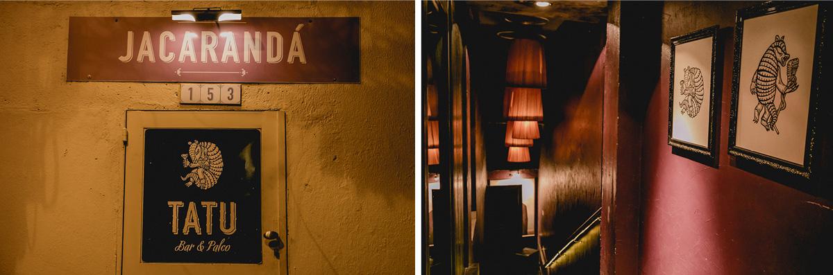 Fachada do restaurante Jacaranda - Tatu Bar e Palco em Pinheiros SP