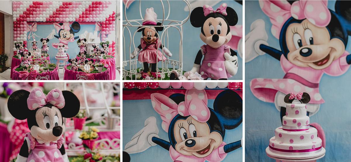 Detalhes da mesa da Minnie Rosa