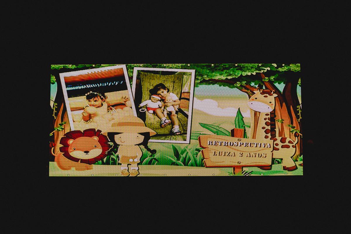 tela da retrospectiva da Luiza