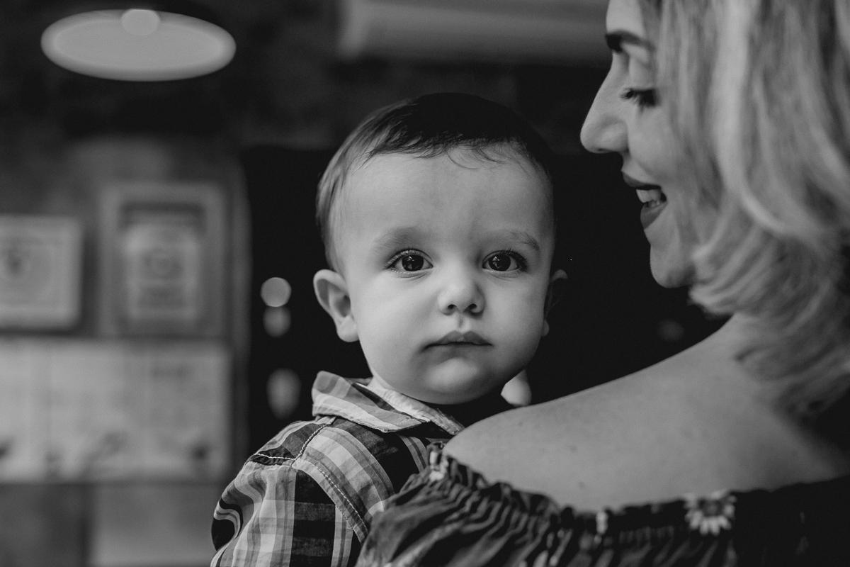 retrato de mãe e filho em PB