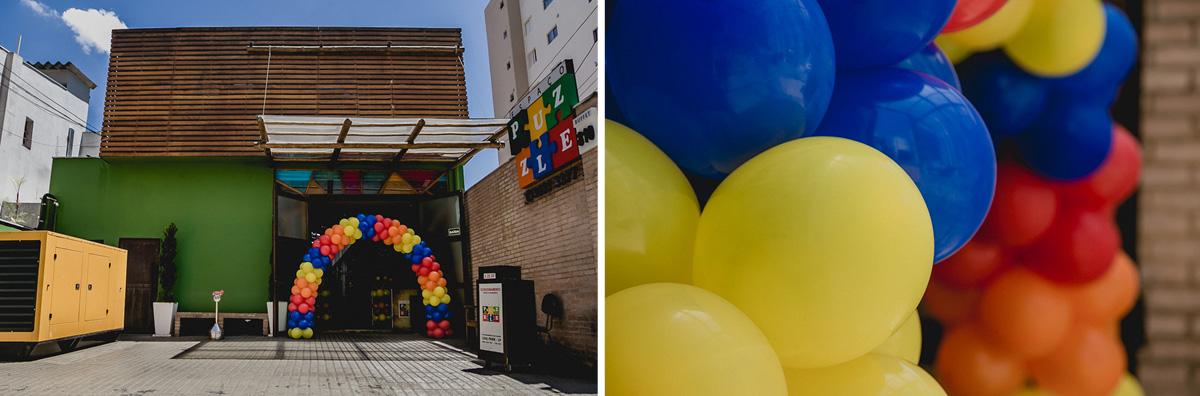 Fachada do buffet espaço puzzle localizado na vila olimpia - sp