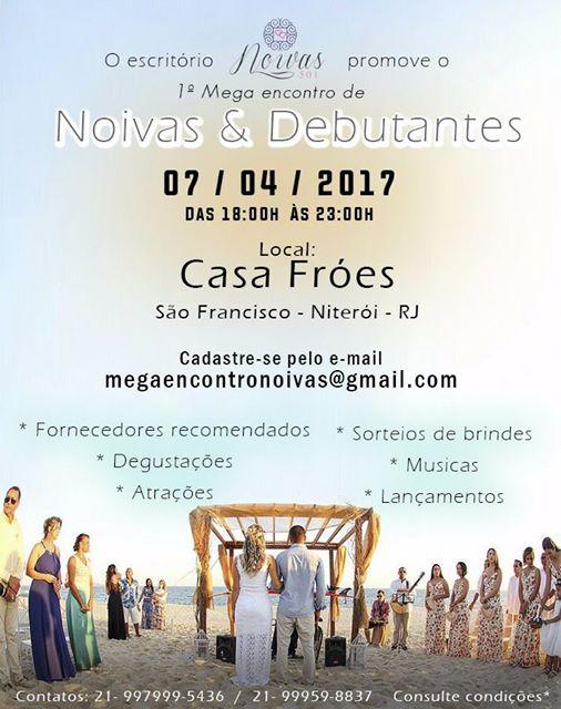 Imagem capa - 1º Mega Encontro de Noivas e Debutantes por Casa Fróes