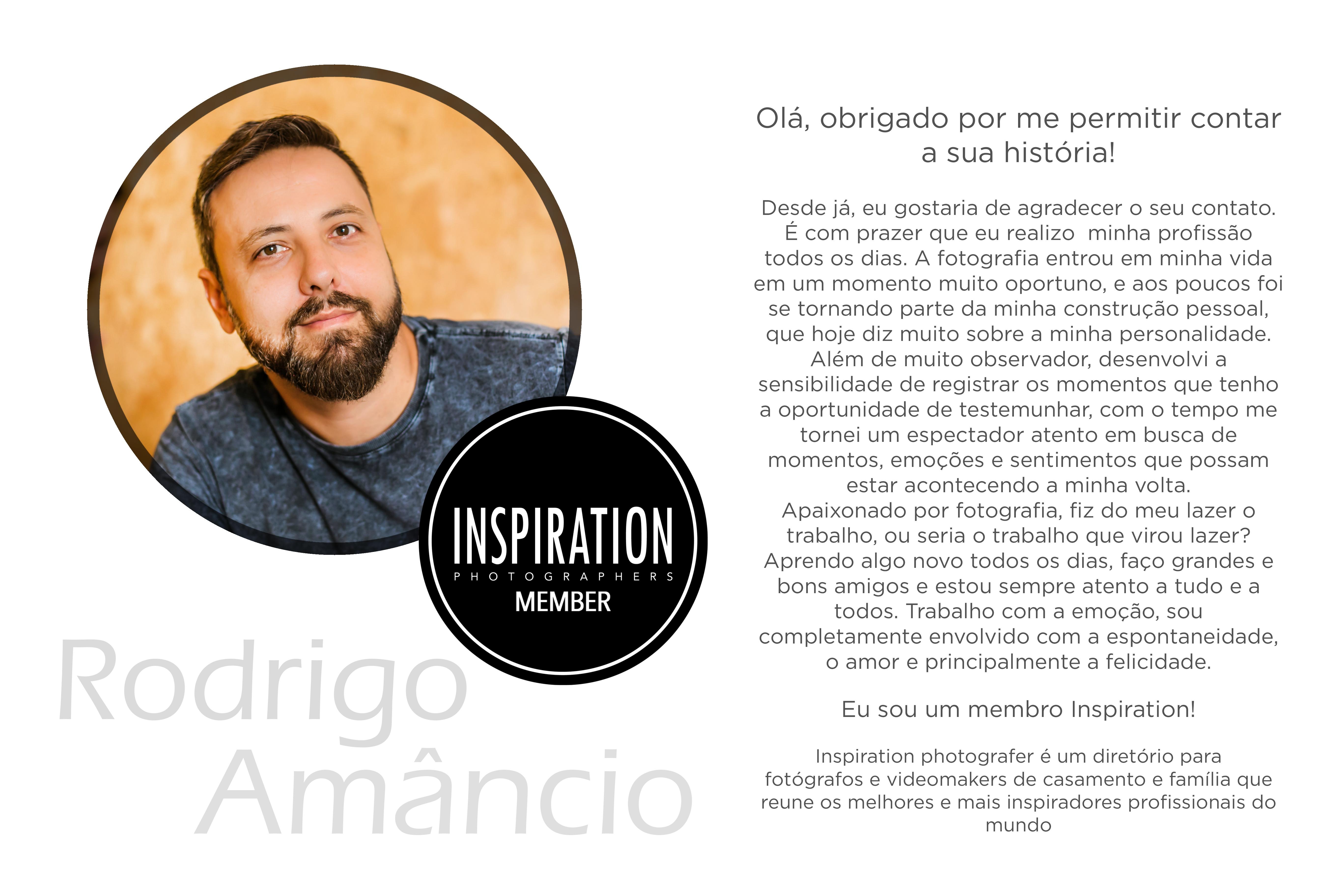Sobre Rodrigo Amâncio - Fotografo de Casamentos