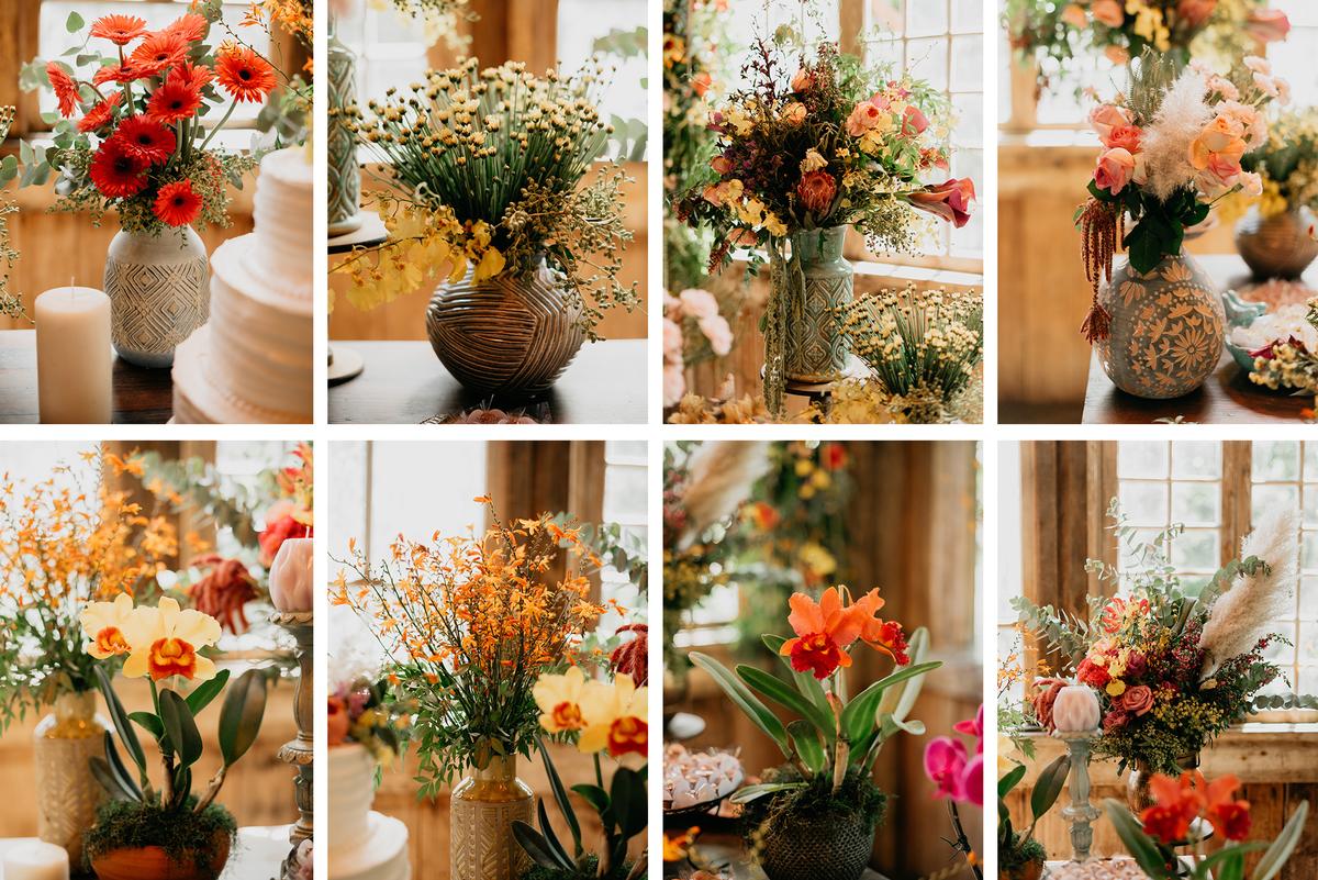arranjos românticos par mesa dos convidados  d