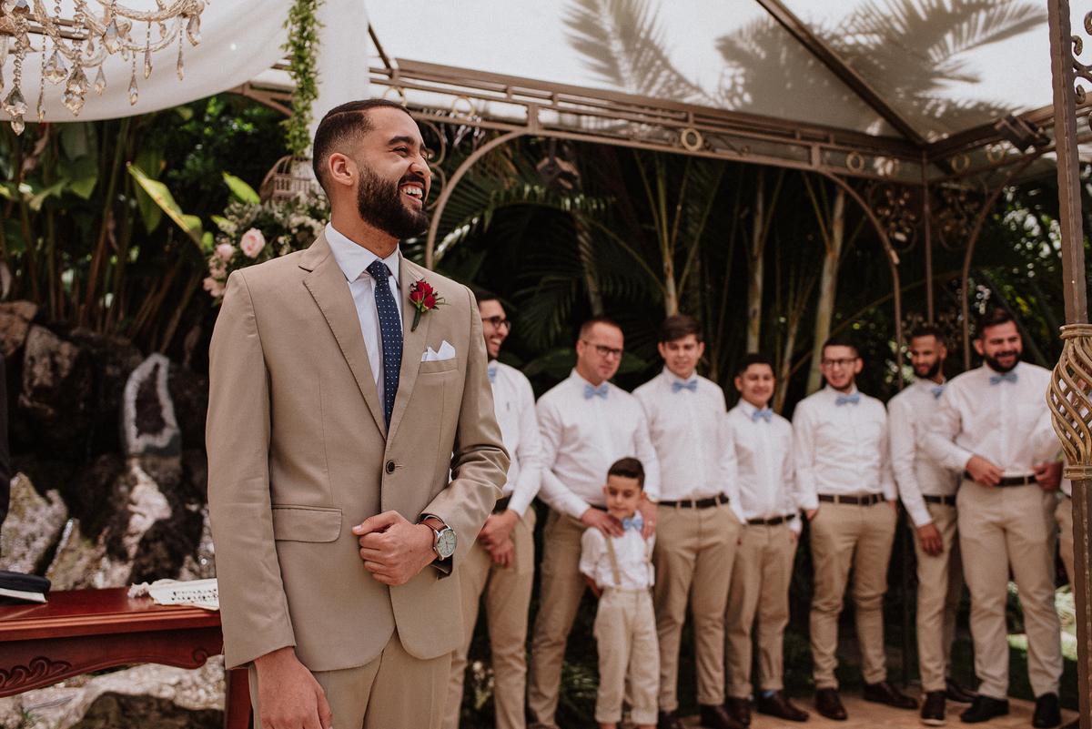 reacao do noivo cerimonia de dia casamentos em mairipora