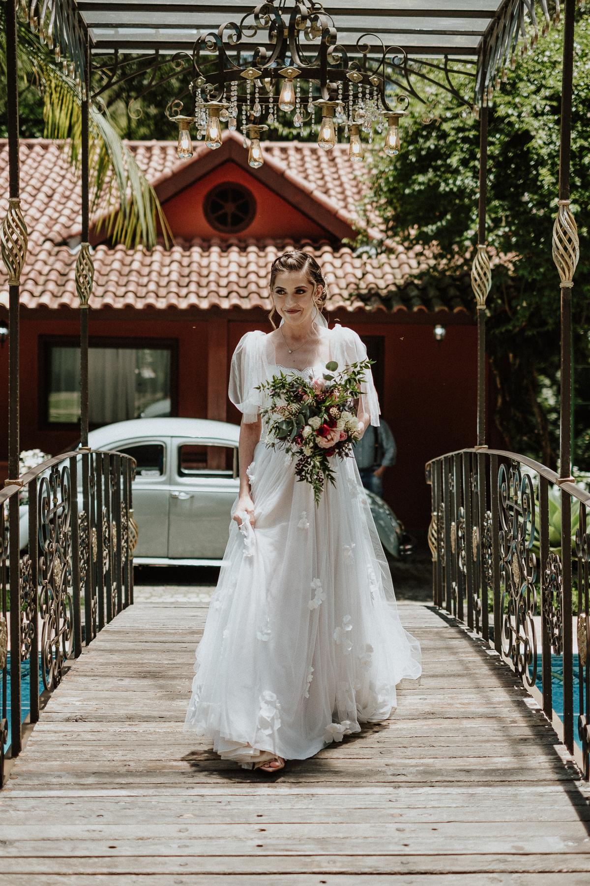 reacao do noivo cerimonia de dia casamentos em mairipora vestido de noiva fotografia de casamento