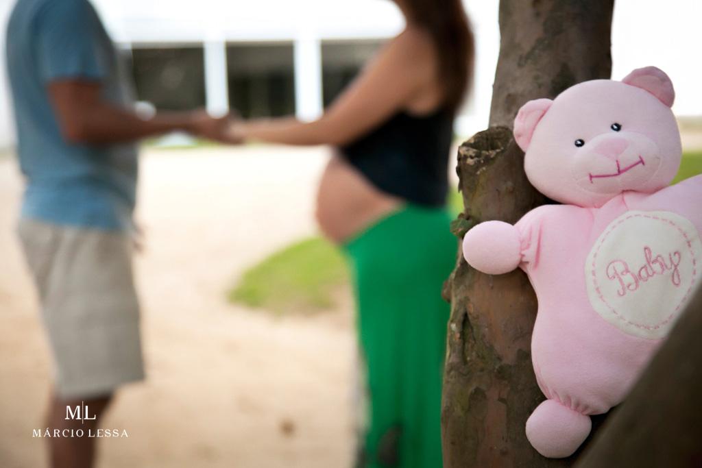 Detalhe do ursinho de pelúcia no Ensaio de Gestante por Márcio Lessa | Fotografia