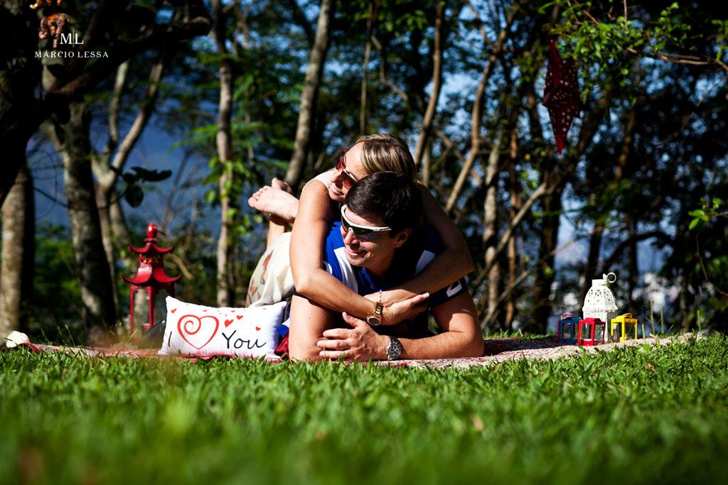 I Love You! Pre-Wedding no Parque Penhasco Dois Irmãos, Leblon, Rio de Janeiro, RJ, por Márcio Lessa | Fotografia
