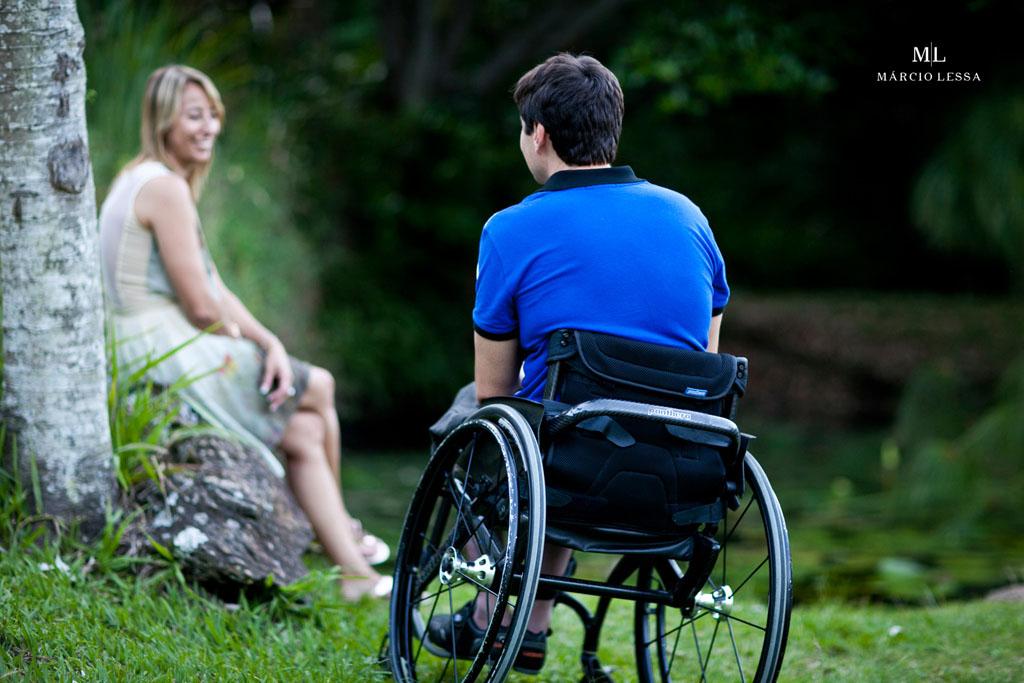 Noivo Atleta Paralímpico | Pre-Wedding no Parque Penhasco Dois Irmãos, Leblon, Rio de Janeiro, RJ, por Márcio Lessa | Fotografia