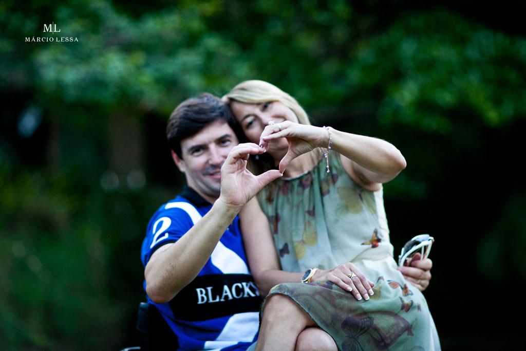 Coração que fala por si! Pre-Wedding no Parque Penhasco Dois Irmãos, Leblon, Rio de Janeiro, RJ, por Márcio Lessa | Fotografia