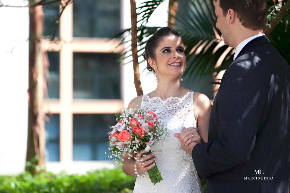 Buquê da Noiva no Casamento Civil no Shopping Downtown na Barra da Tijuca