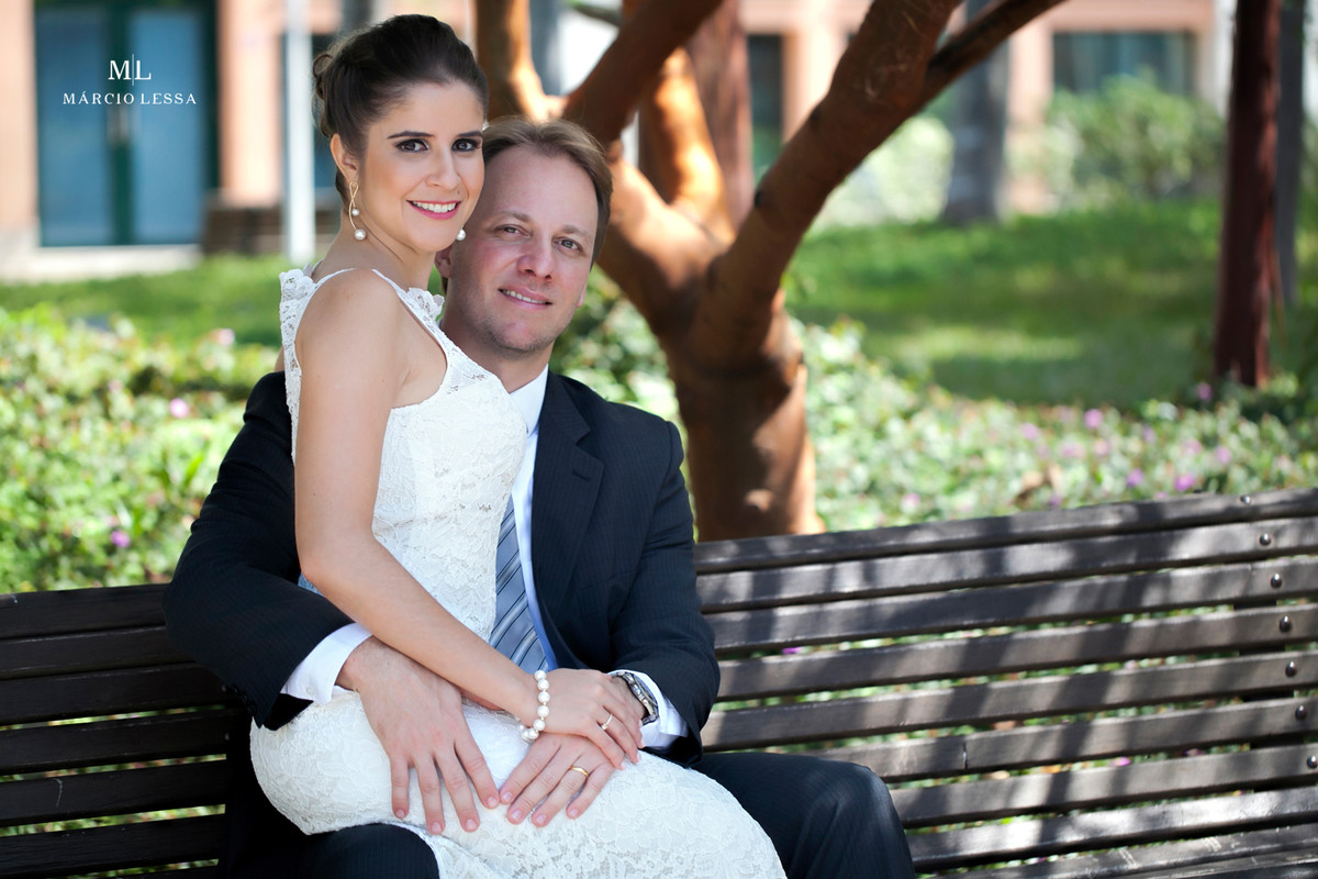 Ensaio Fotográfico dos noivos no Casamento Civil no Shopping Downtown na Barra da Tijuca RJ