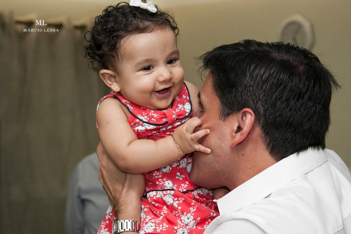 Pai e Filha | Batizado na Igreja Nossa Senhora da Conceição