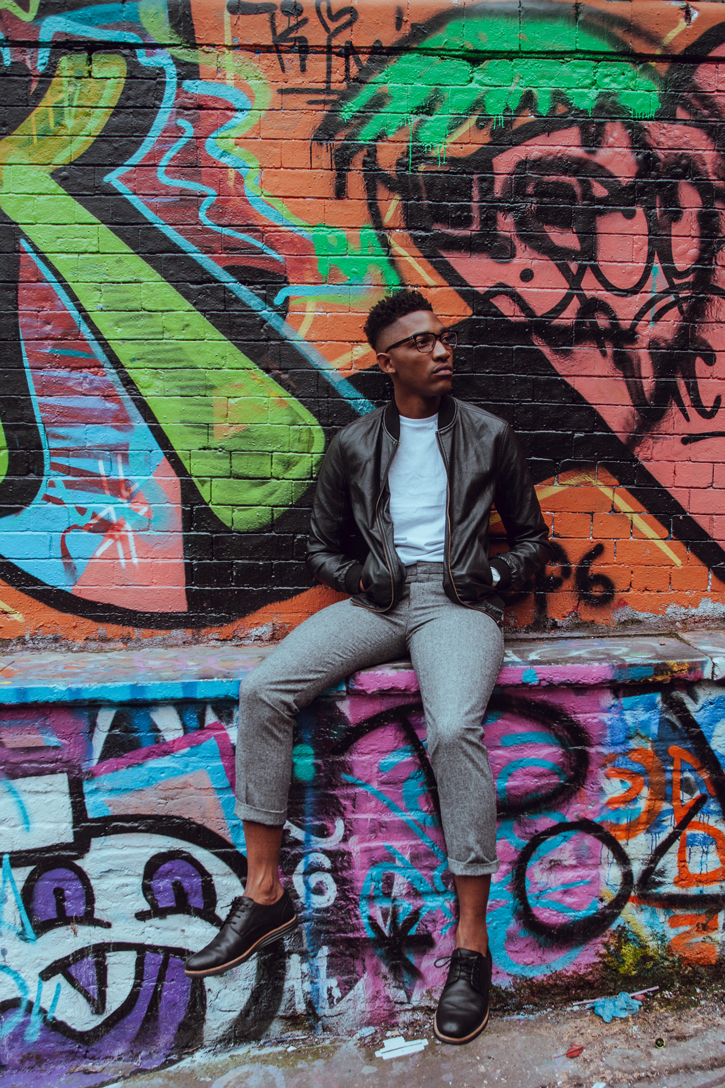 homem grafitte ensaio moda fashion go go