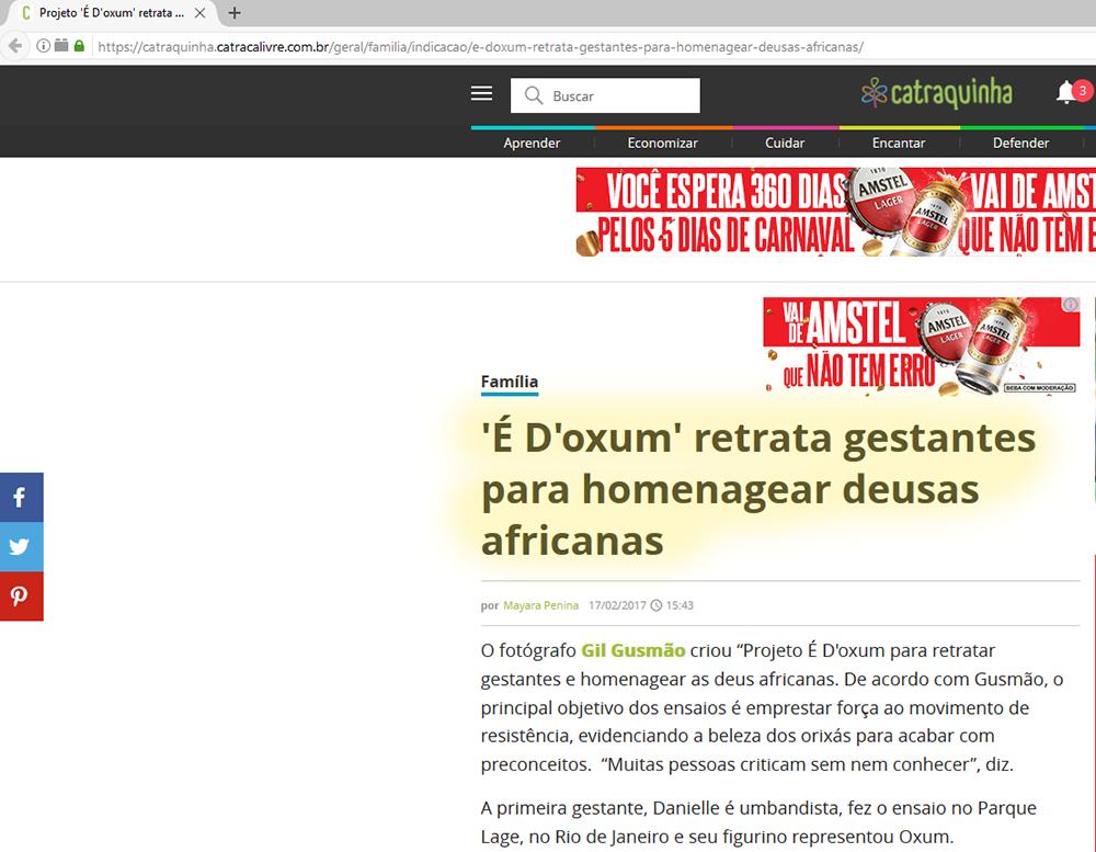 Imagem capa - Entrevista para o Site Catraca Livre sobre o meu Projeto É Doxum por Gilvanio Gusmão de Souza