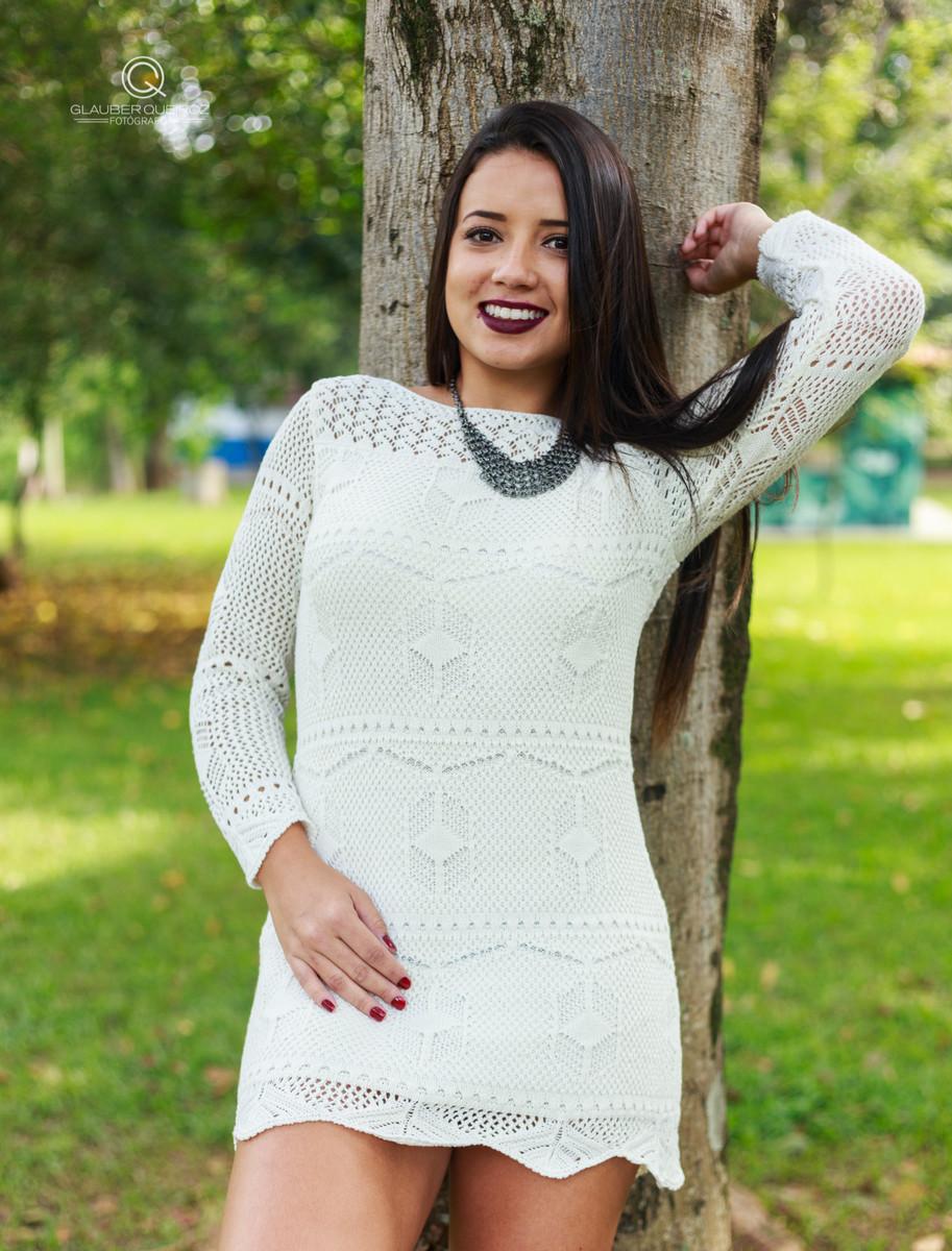 Vestido branco longo para ensaio fotografico