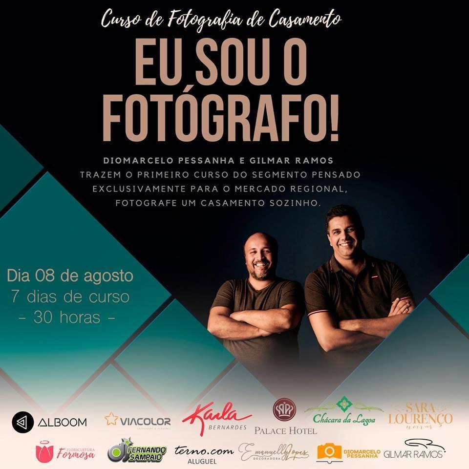 Imagem capa - Curso de Fotografia de Casamentos Eu Sou o Fotógrafo! por Gilmar Ramos