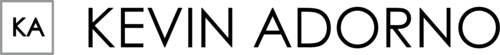 Logotipo de kevin adorno