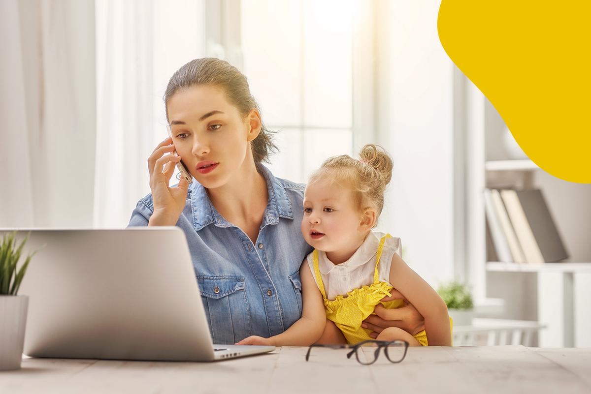 Imagem capa - Como fazer Home-office com os filhos em casa ? por Mila Werneck